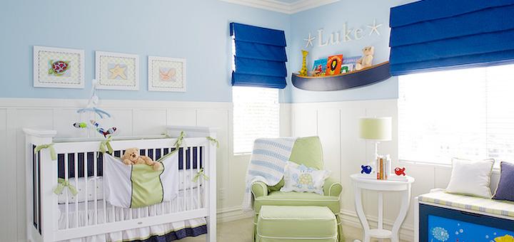 Marynarski pokój dla niemowlaka