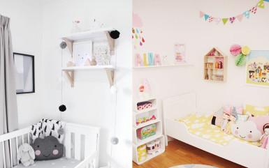 Chmurki w pokoju dziecięcym