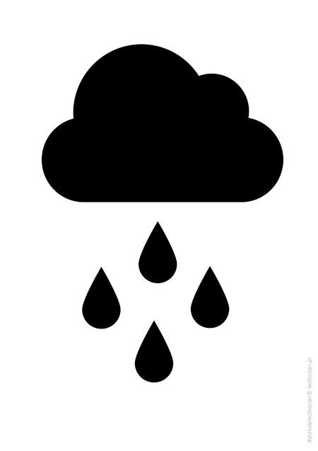 Plakat z czarno-białą chmurką