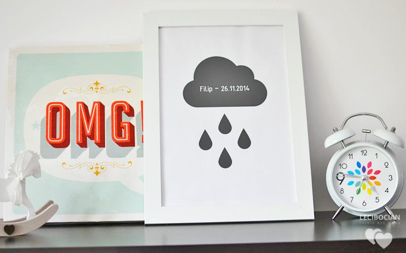 DIY: Plakat z chmurką