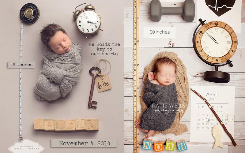 Powiadomienie o narodzinach dziecka w formie zdjęcia