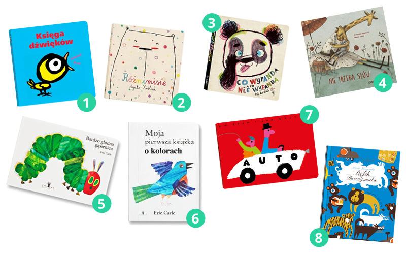 8 książek dla niemowlaka i malucha