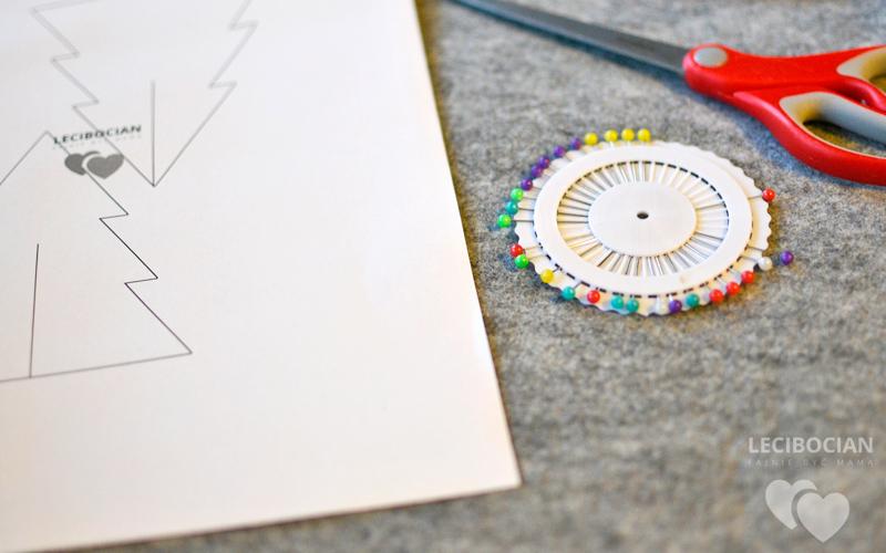 DIY: Najprostsza choinka z filcu