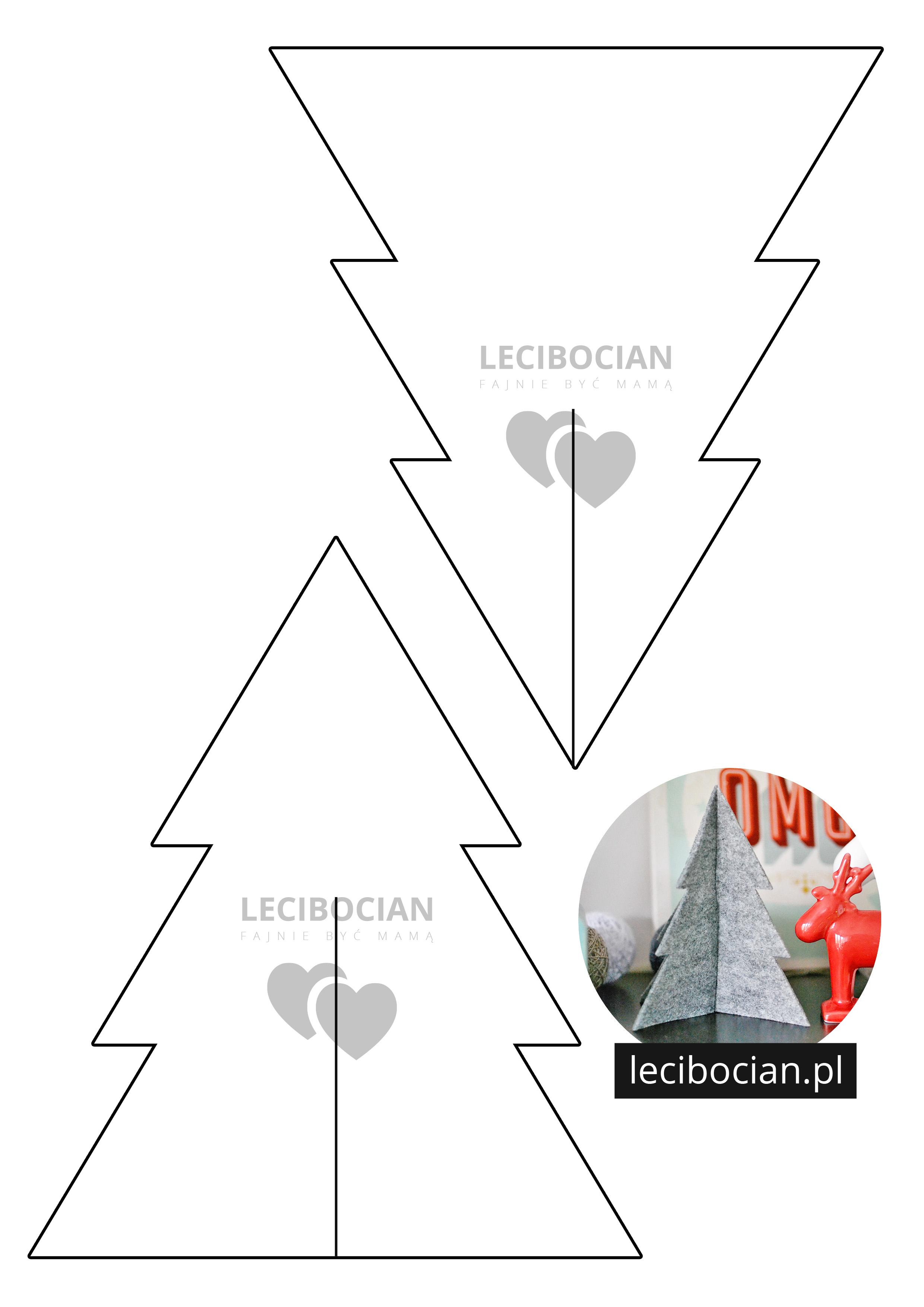 Choinka - darmowy szablon