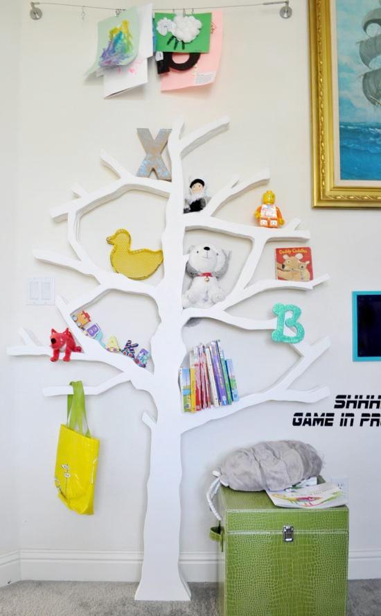 Półki w kształcie drzewa / thedesignconfidential.com