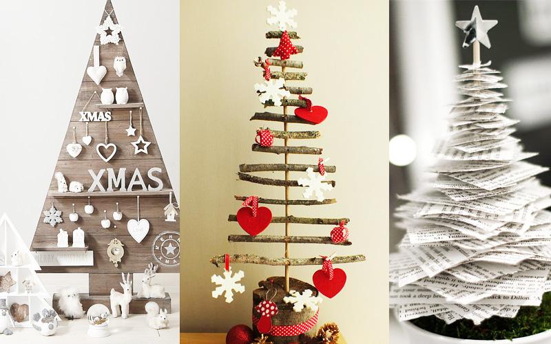 10 pomysłów na świąteczne choinki hand made