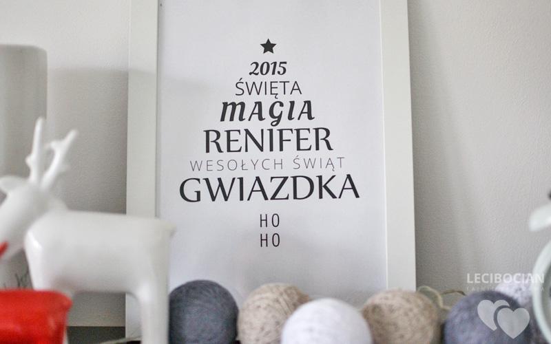 DIY: świąteczny plakat z choinką do wydruku