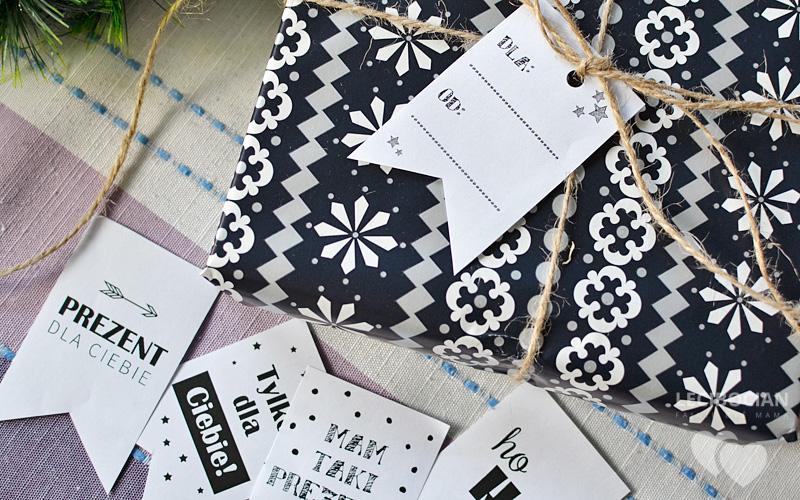 Zawieszki etykiety na prezenty do wydruku