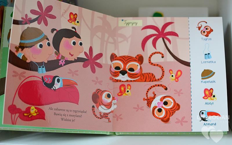 Poszukaj i znajdź: W dżungli - Książeczka malucha