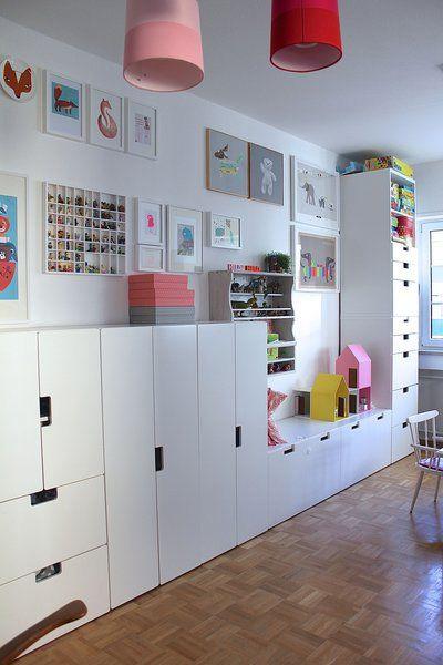 Schreibtisch Ikea Schwarzbraun ~ IKEA Stuva w pokojach dziecięcych – 15 inspiracji