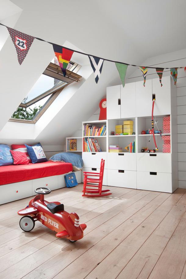 attic playroom ideas - IKEA Stuva w pokojach dziecięcych