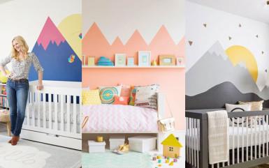 Ściany w pokoju dziecięcym: góry