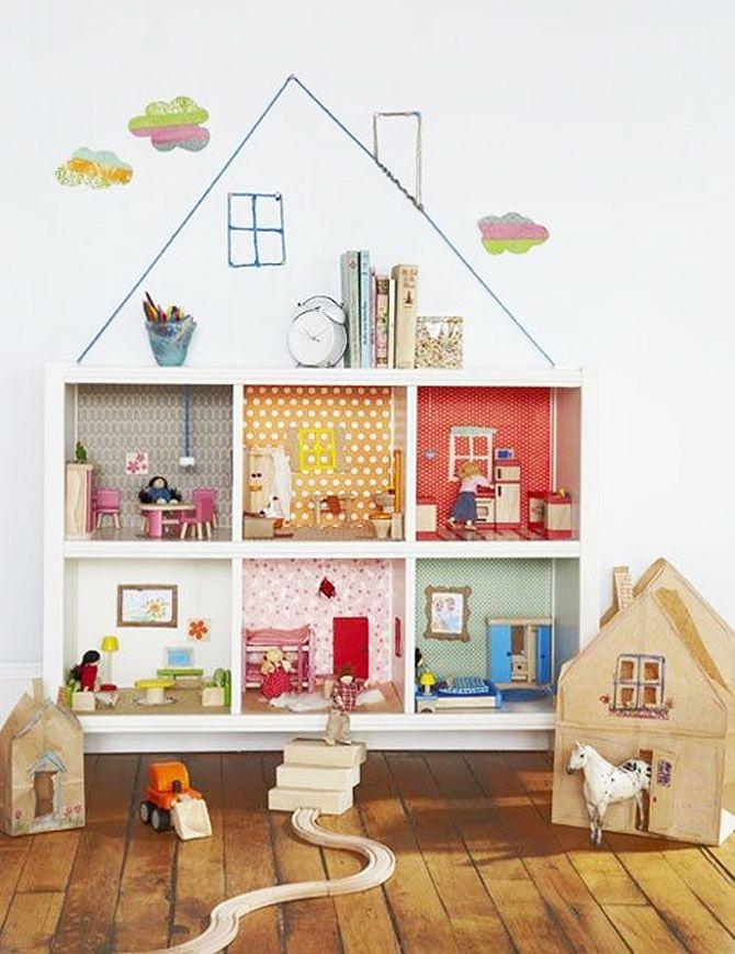 Domek dla lalek z Ikea Kallax