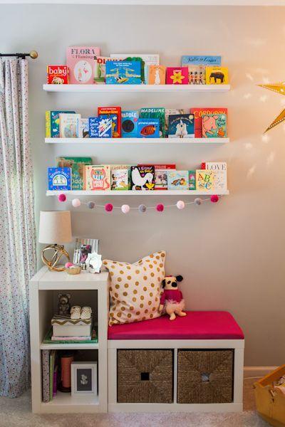 Ikea Kallax miejsce do siedzenia i na zabawki