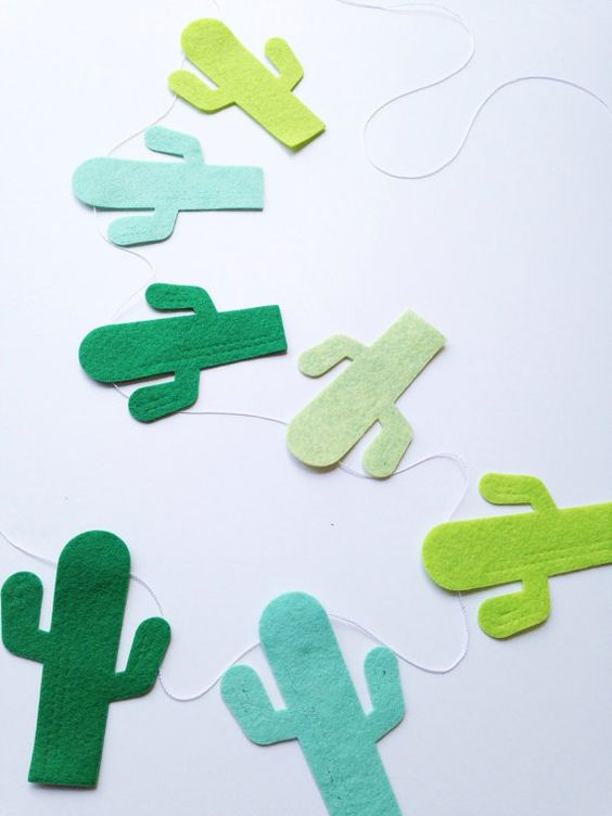 Girlanda kaktusy