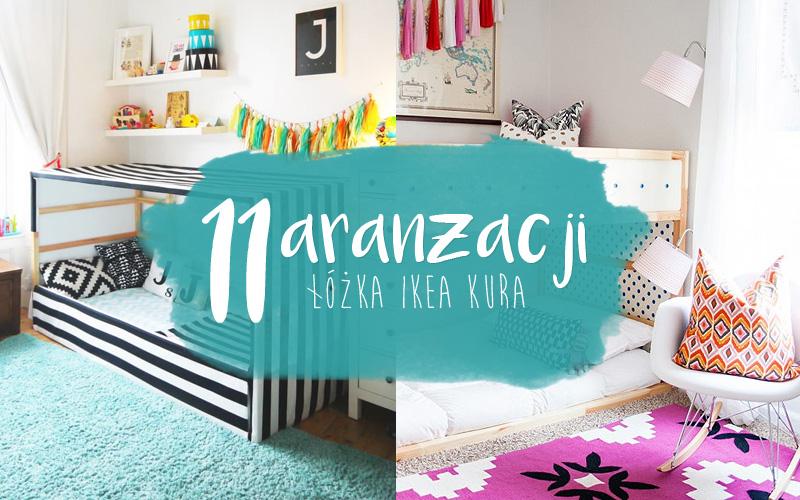 11 pomysłów na aranżacje łóżka Ikea Kura