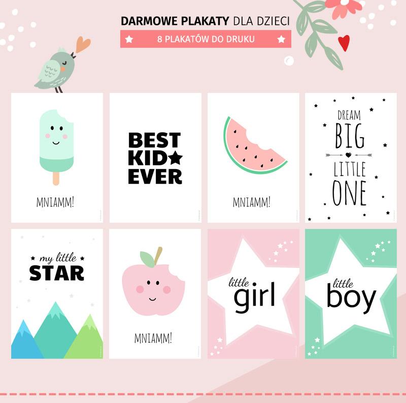 Darmowe plakaty dla dzieci - 8 darmowych wzorów