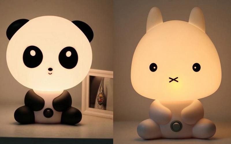 Czarno-biała lampka zwierzak z Ali Express