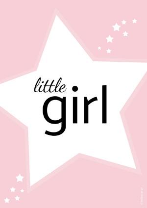 Plakat dla dzieci little girl