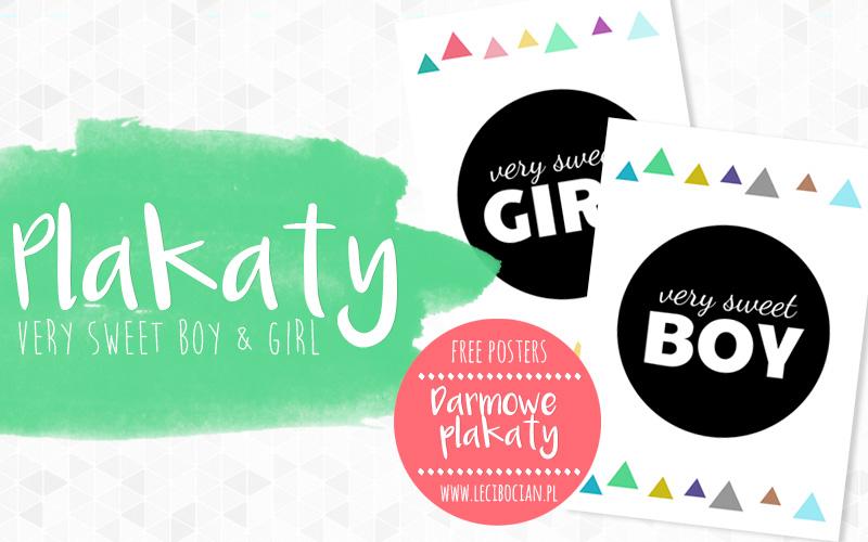 Plakat dla dzieci - Very sweet girl & boy