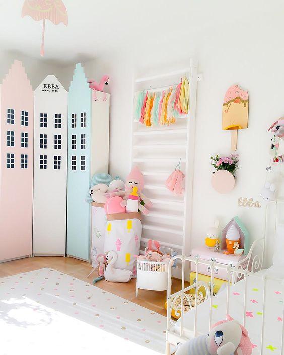 Pastelowe pokoje dziecięce w stylu skandynawskim