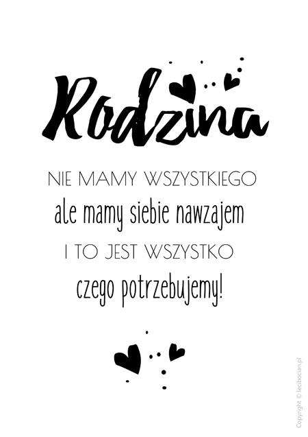 Plakat - Rodzina