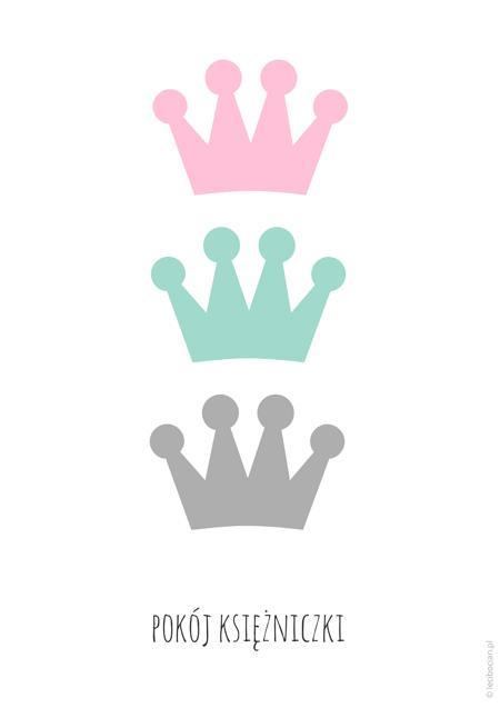Plakat pokój księżniczki