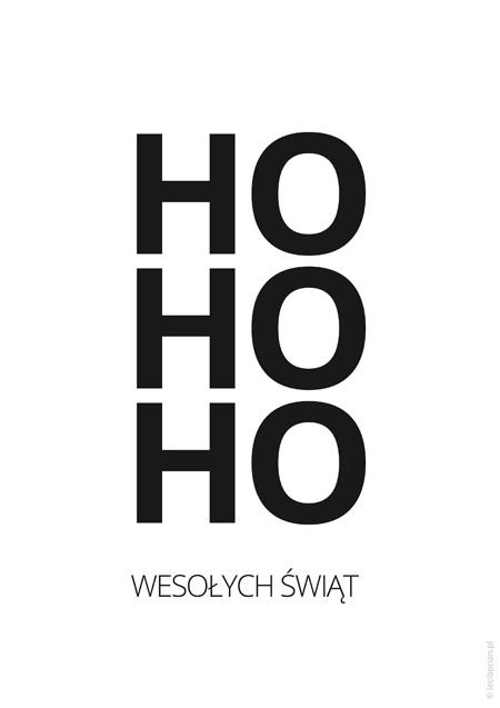 Plakat świąteczny HO HO HO