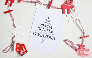 Świąteczny plakat z choinką