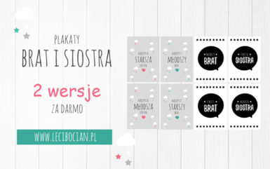 Plakaty brat i siostra - do druku