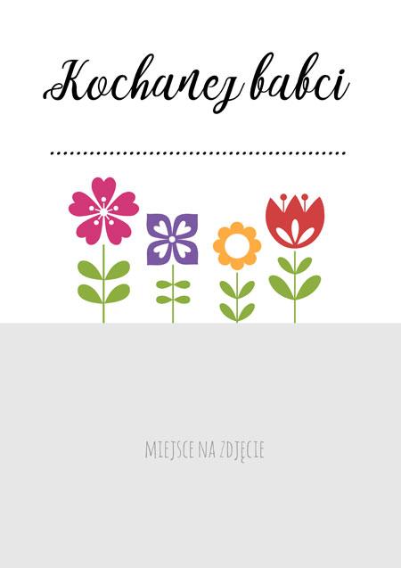 Plakat dla babci - Kochanej babci