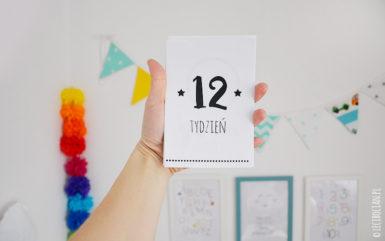 Karty do zdjęć ciąża do druku