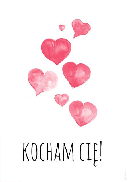 Plakat na walentynki - Kocham Cię!
