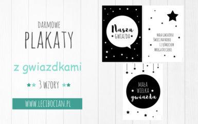 Plakaty z gwiazdkami do druku