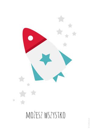 Plakat dla chłopca z rakietą