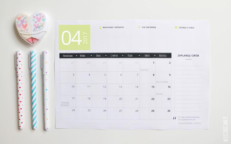 Planer do druku – kwiecień 2017