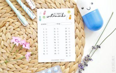 Planner witamin i lekarstw dla dzieci do druku