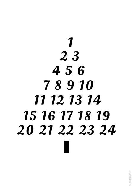 Plakat świąteczny - choinka kalendarz