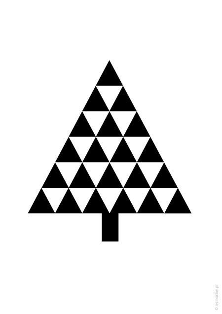 Plakat świąteczny - choinka skandynawska