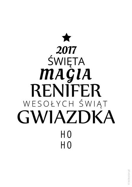 Plakat świąteczny - choinka 2017