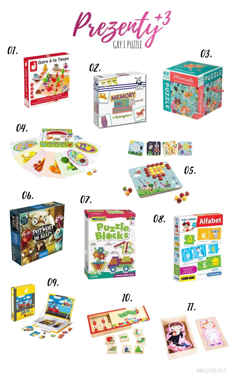 Prezent dla trzylatka Gry i puzzle
