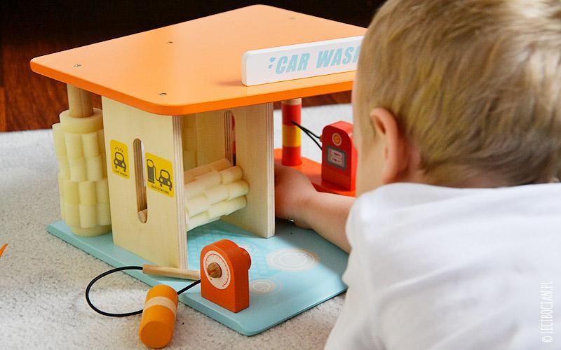 Drewniane zabawki - myjnia Sevi