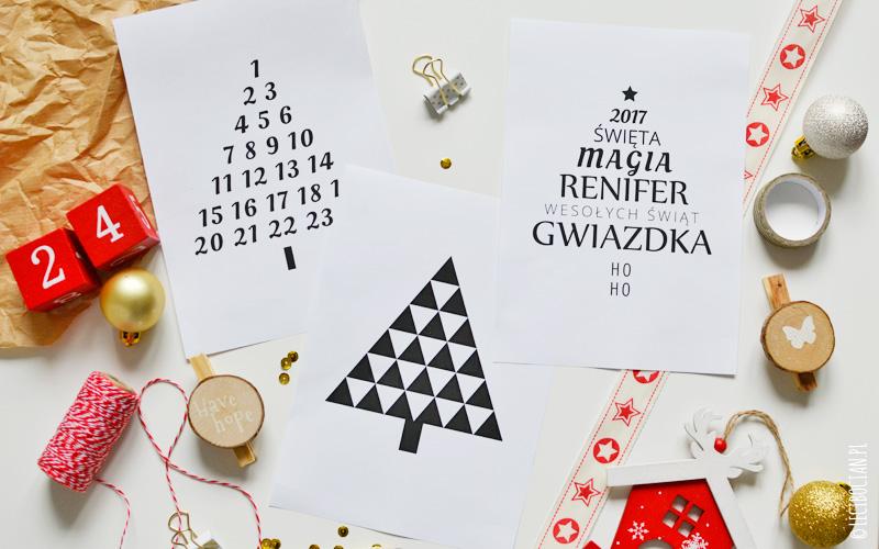 świąteczne Plakaty Z Choinką Do Druku