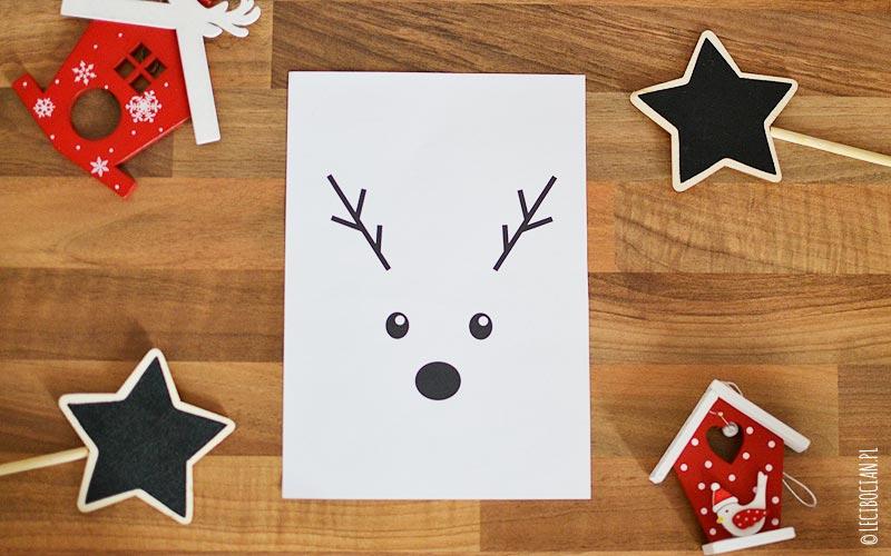 Plakat z Rudolfem z czarnym nosem