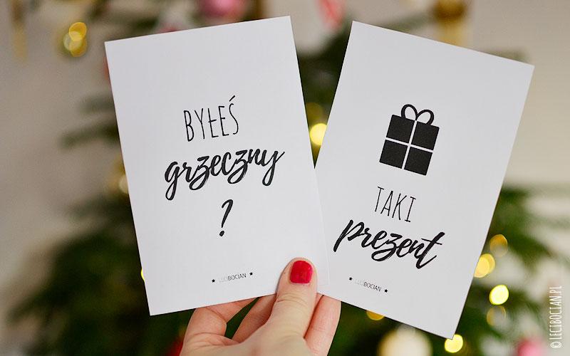 Świąteczne karty do zdjęć do druku