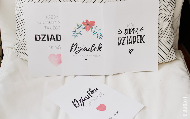 Plakaty dla dziadka do druku