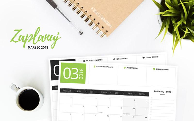 Darmowy planer do druku - marzec 2018