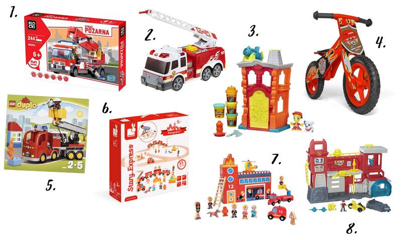 Prezenty na urodziny dla małego strażaka