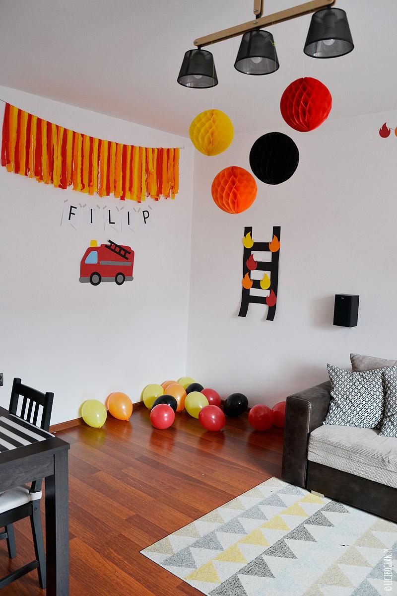 Strażackie urodziny, czyli urodziny z motywem straży pożarnej