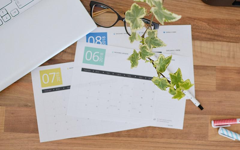 Zaplanuj wakacje - miesięczny planer na czerwiec, lipiec i sierpień